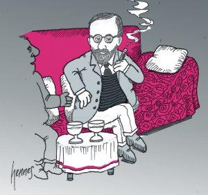 Couch Freud pink neuer Kopf Ausschnitt